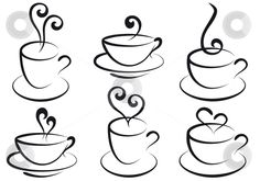 tea cups embroidery