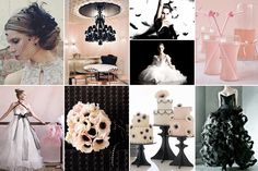 Black swan wedding inspiration. Love the flowers and the cake!