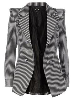 Black stripe blazer