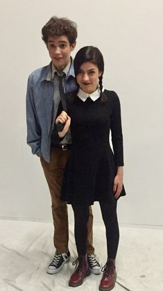 Lucas Beineke and Wednesday Addams