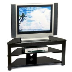 Mount It Mobile Tv Stand With Rolling Casters Three Tiered Glass