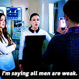 I'm saying all men are weak. || Jemma Simmons || AOS 1x15 Yes Men || 160px × 160px || #animated #quotes