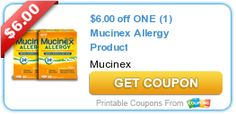 $6.00 off ONE (1) Mucinex Allergy Product