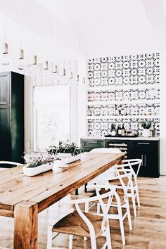 36 Popular Farmhouse Dining Room Table Decor Ideas - Home Bestiest Style At Home, Houses Architecture, Home Interior, Interior Design, Interior Livingroom, Farmhouse Table Decor, Rustic Table, Rustic Farmhouse, Decor Scandinavian