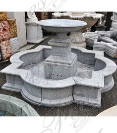 Fine's Gallery is North America's leading custom Marble Fountain designer of beautiful residential and commercial decorative and architectural products. Water Fountain Design, Garden Water Fountains, Stone Water Features, Outdoor Water Features, House Outside Design, Pool Landscape Design, Steinmetz, Classic House Design, Backyard Sheds