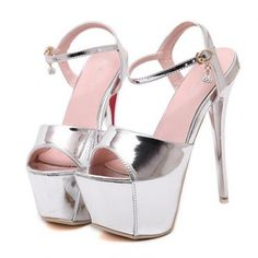 Sexy Hollow-Out Platforms Peep-Toe Thin Heels Pumps Silver ($16.25) http://www.clubwholesale.net/shoes/pumps