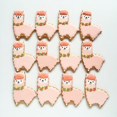 alpaca cookies....ridiculously cute.