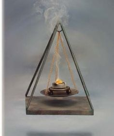 """WITCH'S LUCKY CANDLE SPELL Take an orange candle anointed with cinnamon oil, clove, or lotus oil. Light the candle and say 3 times: """"brimstone, moon, . Candle Magic, Candle Spells, Incense Holder, Candle Holders, Cinnamon Oil, Oil Light, Incense Burner, Burning Incense, Magick"""