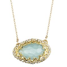 Siyabona Gold Peruvian Chalcedony Pendant :: Necklaces :: Jewelry By Category :: Alexis Bittar