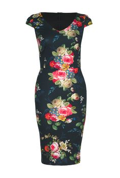 4ad135452b1e Floral Bouquet Bodycon Dress at Long Tall Sally