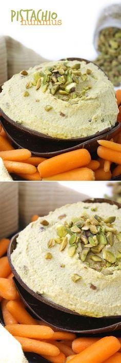 Read More About Pistachio Hummus - The Healthy Maven Vegan Snacks, Healthy Snacks, Vegan Recipes, Healthy Eating, Cooking Recipes, Clean Eating, Chutneys, Pistacia Vera, Pistachio Recipes
