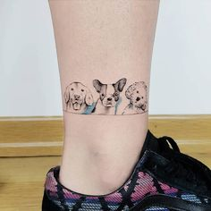 dog tattoo 33 Dog Tattoos That Youll Want To Pin T - Mini Tattoos, Small Dog Tattoos, Ankle Tattoo Designs, Tattoo Designs For Women, Tattoos For Women, Tattoo Women, Neck Tattoos, Body Art Tattoos, Sleeve Tattoos