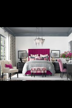 Pink & Gray Bedroom
