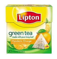 Lipton Green Tea Pyramids Mandarin Orange 20 ct ** Learn more by visiting the image link. Note: It's an affiliate link to Amazon.