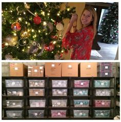 How to organize holiday decor on the NEAT Method blog #organize #holiday #decor
