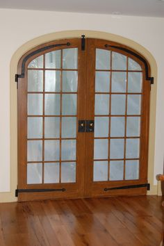 Elliptical double arch top exterior door unit - double pane insulated glass - simulated mullions - project in PA.