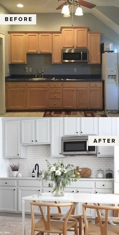 Kitchen Cabinet Remodel Easy Weekend Project: DIY Painted Cabinets - At one point or another, most of us have endured the orangey hue of builder grade or dated cabinets, both in the Kitchen Remodel Cost, Kitchen Cabinet Remodel, New Kitchen Cabinets, Remodel Bathroom, Kitchen Sinks, Kitchen Counters, Kitchen Island, Kitchen Appliances, Cuisines Diy