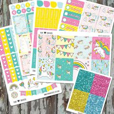 Weekly Planner Sticker Kit - Unicorn Stickers - Fairytale Planner Stickers - for use with Erin Condren Life Planner by planfantastic