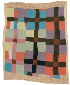 Deborah Pettway Young - Nine blocks with center crosses - Master Image