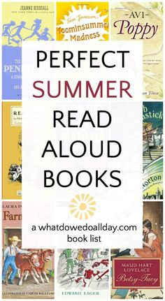 A summer reading list for families. Classic and contemporary books to read aloud that the whole family will enjoy listening to.