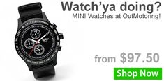 What time is it? Time to rock your new MINI watch! Discover MINI watches at OutMotoring today, cause in our world, it's always time to motor on! https://www.outmotoring.com/watches/