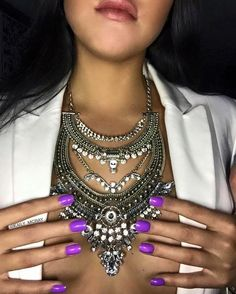 Can't have enough of this necklace from ! Girls Best Friend, Jewelery, Diamond, Nails, Fashion, Finger Nails, Jewels, Moda, Ongles