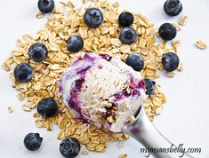 A Blueberry Ice Cream - Blueberry Crisp Mash Up