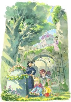 The gorgeous Studio Ghibli-style art of Ni No Kuni II - The Verge Ni No Kuni, Studio Ghibli Art, The Revenant, Pokemon, Fantasy Kunst, Environment Concept Art, Hayao Miyazaki, Pretty Art, Game Art