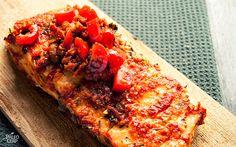 Salmon with Tomato Pesto   Paleo Leap