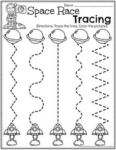 Preschool Tracing Worksheets - Race to Space Theme spacetheme preschoolworksheets preschoolactivities preschoolprintables tracingworksheets 650348002424661408 Preschool Lesson Plans, Free Preschool, Preschool Learning, Preschool Activities, Planets Preschool, Teaching, Space Theme Preschool, Space Activities, All About Me Preschool Theme