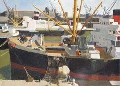Joseph INGUIMBERTY 1896-1971 - Vue Du Bassin De La Joliette À Marseille, Vers 1950