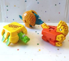Vintage McDonalds Happy Meal Toys Dinosaurs by SunnyDaySupplies