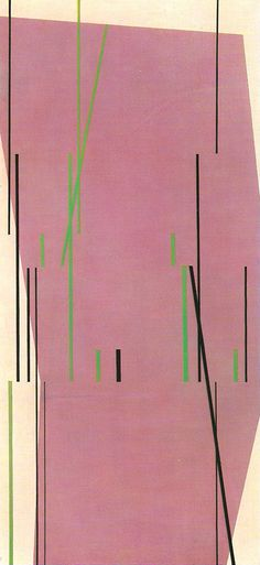 Tomás Maldonado, Una forma y series, óleo sobre tela, 150,5 x 70,5 cm., 1953