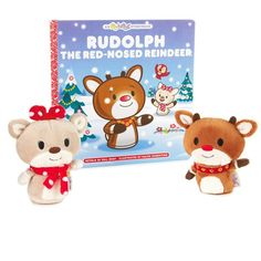 itty bittys® Rudolph the Red-Nosed Reindeer® Stuffed Animals and Storybook Set