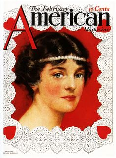 Lovely vintage Valentine's Day themed American Magazine cover. #vintage #Valentines #magazines