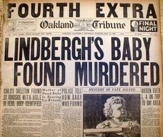 New Evidence Finally Reveals The Truth Behind What Really Happened To The Lindbergh Baby Anne Morrow Lindbergh, Charles Lindbergh, Trivia Of The Day, Newspaper Headlines, German Words, What Really Happened, Sad Stories, True Crime, Journaling