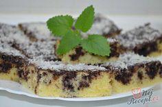 Ještě horkou buchtu propícháme špejlí a polijeme polevou, kterou rozmažeme po celé ploše buchty. Ihned posypeme kokosem a po vychlazení papáme. Autor: Lacusin Kefir, Kombucha, No Bake Cake, Tiramisu, Food And Drink, Pudding, Sweets, Baking, Ethnic Recipes