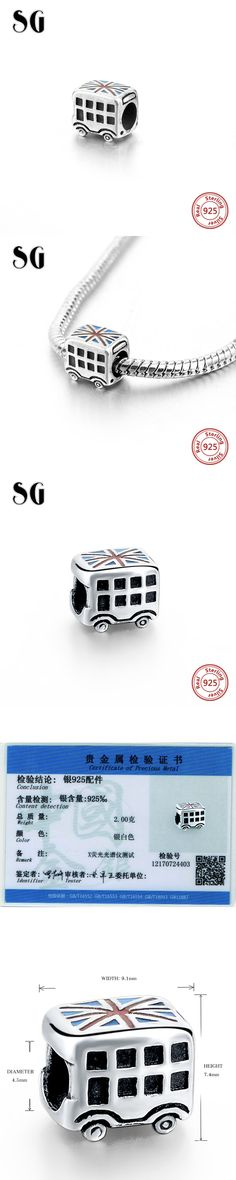 New 925 Sterling Silver Beads Enamel Car European Charms Fit European Style Bracelets Bangle DIY sterling-silver-Jewelry Making