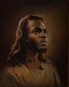 Pondering the Many Faces of Jesus – Jesus Without Baggage African Jesus, Black Jesus Pictures, White Jesus, Jesus Christ Images, Portrait Cartoon, Jesus Stories, Jesus Face, Religious Art, Religious Education