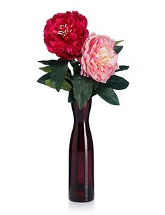 Artificial Peonies in Vase | M&S,Love the colours