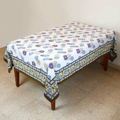 Tablecloth Rectangular 152 X 228 Table Decor Spring Floral Cotton: Amazon.co.uk: Kitchen & Home