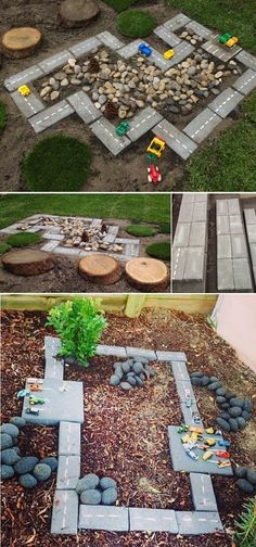 DIY Race Car Track: Gartenprojekte für Kinder - Dekorationen