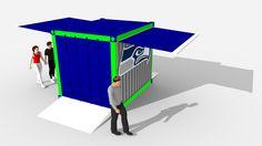 Hawk's BBQ Box for Nissan Pavilion Foodservice Century Link Field designed by LU Schildmeyer
