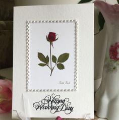 Wedding wishes marriage card Happy Wedding by PatsysPressedFlowers