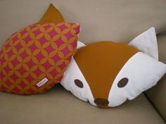 Fox Pillow pdf electronic pattern by tiddliwinktoys on Etsy