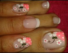 Pink Nail Designs, Nail Designs Spring, Acrylic Nail Designs, Flower Toe Nails, Flower Nail Art, Christmas Nail Designs, Christmas Nail Art, Beautiful Nail Art, Gorgeous Nails