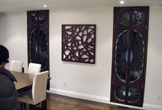 Wood Panel Wall Art | DECORATIVE MIRROR WOOD INTERIOR DESIGN DECOR - Artsigns Interiors