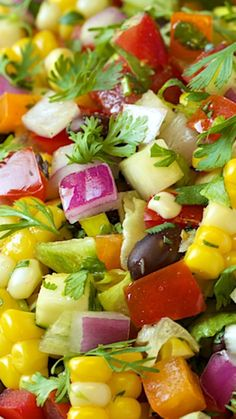 Mexican Chopped Salad ~ The freshest, healthiest, most delicious salad with lots of Southwestern flair!
