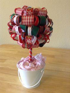 Christmas Topiary Mistletoe by LadyBugzandLace on Etsy