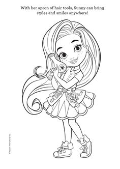 Cute Coloring Pages, Coloring Pages For Girls, Cartoon Coloring Pages, Coloring For Kids, Coloring Books, Drawing For Kids, Line Drawing, Cartoon Pics, Sunny Days